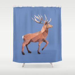 Reindeer.  Shower Curtain