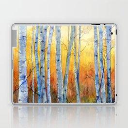 Birch Trees at Sunset Laptop & iPad Skin