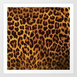 Glitter Leopard Print Art Print