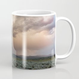 Yellowstone National Park - Sunset storm over the Washburn Range Coffee Mug