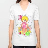iwatobi V-neck T-shirts featuring Astronaut Nagisa by Lilolilosa