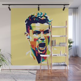 colorful illustration of ronaldo Wall Mural