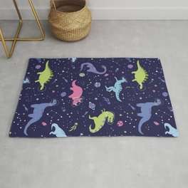 Dinosaurs in Space Rug