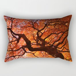 Ephemeral - Fall Maple Leaves, Nature Photography Rectangular Pillow