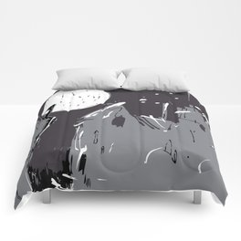 Moonlight Town (Dreamscapes) Comforters