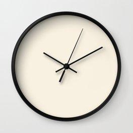 MERINGUE pale solid color  Wall Clock