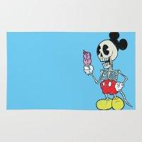 mickey Area & Throw Rugs featuring Mickey Bones by Alejandro Giraldo