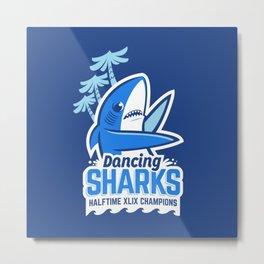 Dancing Sharks Metal Print