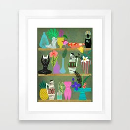 Flowers and Goddesses Shelf Framed Art Print