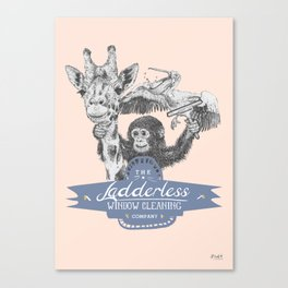 The Ladderless Window Cleaning Company Canvas Print