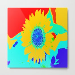 Fun Sunflower Pop-art #decor #society6 #buyart Metal Print