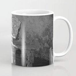 Black and White Seating Area Fort Stanton New Mexico Coffee Mug