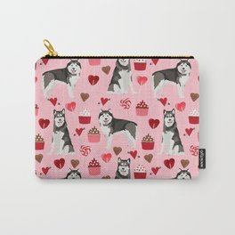 Alaskan malamute cupcakes love valentines day dog breed pet lover malamute gifts Carry-All Pouch