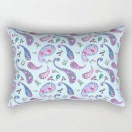 Paisley Rain Aqua Rectangular Pillow