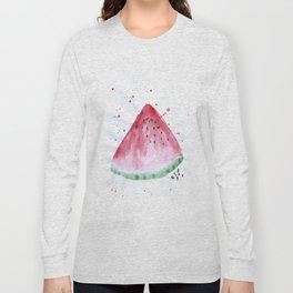 Watermelon summer watercolor illustration, food illustration, fruit Long Sleeve T-shirt