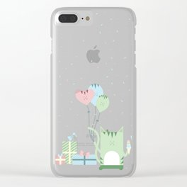 Traveling Tabbies: Happy Birthday! Clear iPhone Case