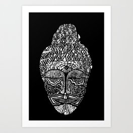 Detailed Buddha Art Print