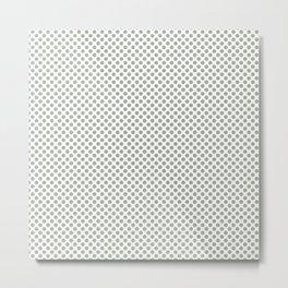 Desert Sage Polka Dots Metal Print