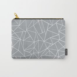 Abstraction Outline Grey Carry-All Pouch