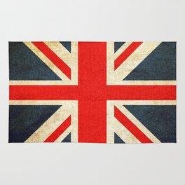 Vintage Union Jack British Flag Rug