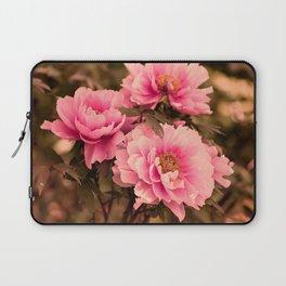 Pink  Peony Flower Laptop Sleeve