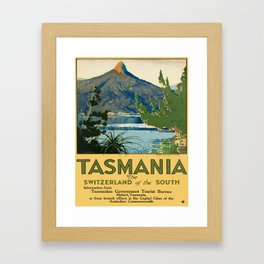 Vintage poster - Tasmania Framed Art Print