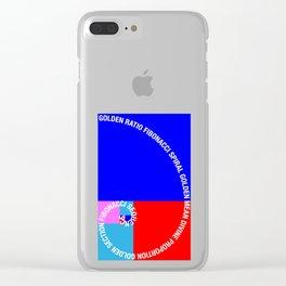 Golden Ratio, Fibonacci Spiral, Typographic Clear iPhone Case
