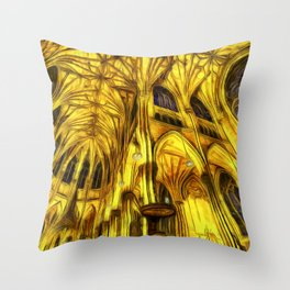 The Cathedral Vincent Van Goth Throw Pillow