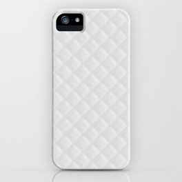 Bright White Stitched and Quilted Pattern iPhone Case