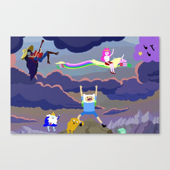AT character spread Canvas Print