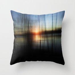Sunset Blur Throw Pillow
