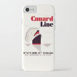 Cunard Line art deco style iPhone Case