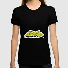 kira graffiti tag hip hop green  graffiti style T-shirt