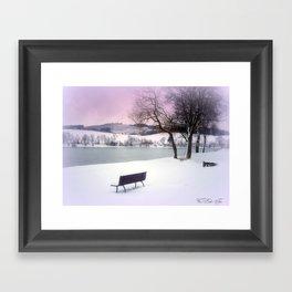 Winter seat Framed Art Print