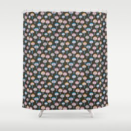 Pattern Project / Mushroom Pattern (Dark) Shower Curtain