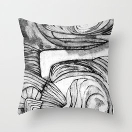 Onions (black and white) Throw Pillow