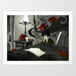 All Hallows Read Art Print