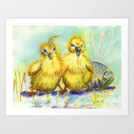 Kleine Enten, small duck Art Print