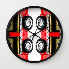 red classic car Wall Clock