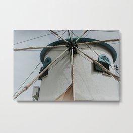 Typical Greek windmill | Colourful Travel Photography | Zakynthos, Greece (Zante) Metal Print