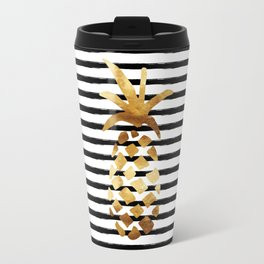 Pineapple & Stripes Travel Mug