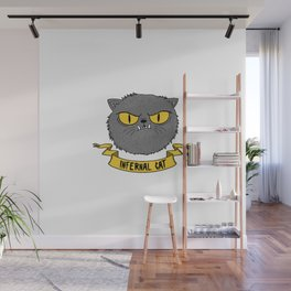 Infernal Cat Wall Mural