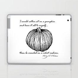 Thoreau's Pumpkin Laptop & iPad Skin