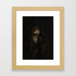 the weeping veil Framed Art Print