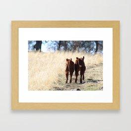Best Buds Running Framed Art Print