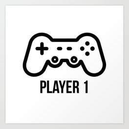 Player 1 Art Print