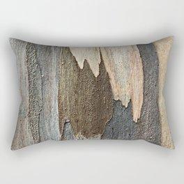 Eucalyptus Tree Bark and Wood Abstract Natural Texture 31 Rectangular Pillow