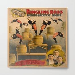 Vintage poster - Circus Acrobats Metal Print