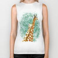 giraffes Biker Tanks featuring giraffes by Isabel Sobregrau