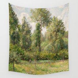 Camille Pissarro - Poplars, Éragny (1895) Wall Tapestry